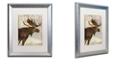 "Trademark Global Color Bakery 'Winter Game Four' Matted Framed Art, 16"" x 20"""