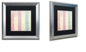 "Trademark Global Color Bakery 'Petals Of Paris Vii' Matted Framed Art, 16"" x 16"""