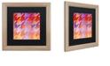 "Trademark Global Color Bakery 'Houndstooth Viii' Matted Framed Art, 16"" x 16"""