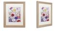 "Trademark Global Color Bakery 'Sevilla Ii' Matted Framed Art, 16"" x 20"""