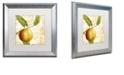 """Trademark Global Color Bakery 'Cafe D?Or V' Matted Framed Art, 16"""" x 16"""""""