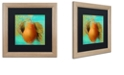"""Trademark Global Color Bakery 'Glowing Fruits Iv' Matted Framed Art, 16"""" x 16"""""""