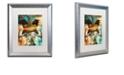"Trademark Global Color Bakery 'Art Nouveau Zodiac Gemini' Matted Framed Art, 16"" x 20"""