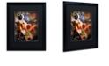 "Trademark Global Color Bakery 'Art Nouveau Zodiac Leo' Matted Framed Art, 16"" x 20"""