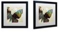 "Trademark Global Color Bakery 'Butterfly Brocade Iv' Matted Framed Art, 16"" x 16"""