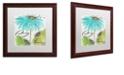 "Trademark Global Color Bakery 'Daisy Morning Ii' Matted Framed Art, 16"" x 16"""
