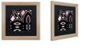 "Trademark Global Color Bakery 'Daring Deco Iv' Matted Framed Art, 16"" x 16"""