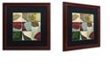 "Trademark Global Color Bakery 'Leaf Story Iii' Matted Framed Art, 16"" x 16"""