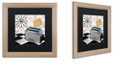 """Trademark Global Color Bakery 'Fifties Kitchen I' Matted Framed Art, 16"""" x 16"""""""