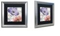 "Trademark Global Color Bakery 'Fleurs De France Iii' Matted Framed Art, 16"" x 16"""