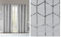 "Intelligent Design Raina Metallic Print 50"" x 63"" Total Blackout Curtain Panel"