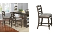 Furniture of America Wilson Upholstered Counter Height Chair (Set of 2)