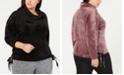 Calvin Klein Plus Size Cowlneck Side-Tie Top