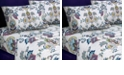Tribeca Living Abstract Paisley Printed Extra Deep Pocket Flannel Full Sheet Set