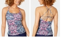 Island Escape Thrill Seekers Palisades Printed Strappy Back Tankini Top, Created For Macy's
