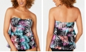 Island Escape Bahamas Printed Three-Tiered Bandini Tankini Top, Created for Macy's