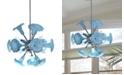 Dale Tiffany Yuri Blue 6-Light Art Glass Hanging Fixture