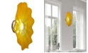 "Dale Tiffany Tawney Gold 20""D Led Art Glass Wall Light Fixture"