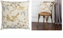 """Rizzy Home 18"""" x 18"""" Floral with Birds Down Filled Pillow"""