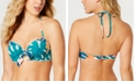 SUNDAZED Tropicali Printed Bow Halter Bikini Top, Created For Macy's
