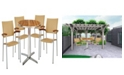 New Spec Inc Outdoor Round Bistro Dining Set with Pe Rattan of 5 Pieces