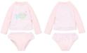 Little Me Fish 2-Pc. Baby Girls Rashguard