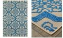 """Oriental Weavers Cayman 2541M Sand/Blue 3'10"""" x 5'5"""" Indoor/Outdoor Area Rug"""