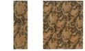 """Oriental Weavers Huntley 19104 Black/Gold 2'3"""" x 8' Runner Area Rug"""