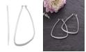 Catherine Malandrino Women's Polished Silver-Tone Triangle Hoop Earrings