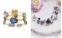 Catherine Malandrino Women's Multicolored Jewels Multistrand Yellow Gold-Tone Rolo Chain Bracelet