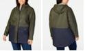 Levi's Plus Size Colorblocked Rain Jacket