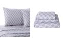 Levtex Home Gray Damask Twin Sheet Set