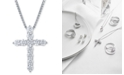 Macy's Star Signature Diamond Macy's Star Signature Certified Diamond (2 ct. t.w.) Cross Pendant Necklace in 14k White Gold