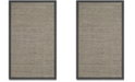 Safavieh Natural Fiber Natural and Dark Gray 3' x 5' Sisal Weave Area Rug