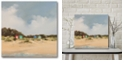 "Courtside Market Beach Shacks 16x16 Gallery-Wrapped Canvas Wall Art - 16"" x 16"""