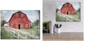 """Courtside Market Red Barn Look Out Gallery-Wrapped Canvas Wall Art - 16"""" x 20"""""""