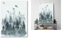 """Courtside Market Watercolor Pine Tree Forest Gallery-Wrapped Canvas Wall Art - 16"""" x 20"""""""