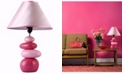 All The Rages Simple Designs Shades of Pink Ceramic Stone Table Lamp