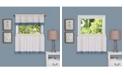 Achim Camden 58x36 Window Curtain Tier Pair, Black
