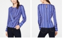 INC International Concepts I.N.C. Striped Twist-Front Top, Created for Macy's