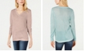 INC International Concepts I.N.C. Petite Metallic V-Neck Pullover Sweater, Created for Macy's