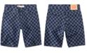 Levi's Little Boys 502 Checkerboard-Print Taper-Fit Denim Shorts