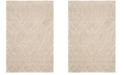 "Safavieh Memphis Cream and Taupe 6'7"" x 6'7"" Round Area Rug"