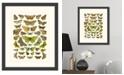 "Melissa Van Hise Butterfly Charts II Framed Giclee Wall Art - 15"" x 18"" x 2"""
