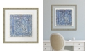 "Melissa Van Hise Colorful Tiles I Framed Giclee Wall Art - 28"" x 28"" x 2"""