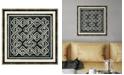 "Melissa Van Hise Woodblocks IV Framed Giclee Wall Art - 22"" x 22"" x 2"""