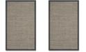 """Safavieh Natural Fiber Natural and Dark Gray 2'6"""" x 4' Sisal Weave Area Rug"""