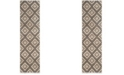 "Safavieh Tunisia Creme and Brown 2'3"" x 8' Runner Area Rug"