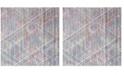 Safavieh Windsor Ivory and Aqua 6' x 6' Square Area Rug