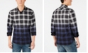 American Rag Men's Joel Dip Dye Plaid Shirt
